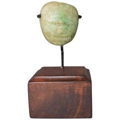 Pre Columbian Maya Jadeite Mask Pendant