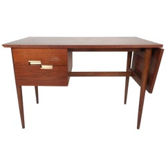 American of Martinsville Drop-Leaf Walnut Desk by Merton Gershun