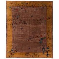 Antique 1920s Chinese Art Deco Rug