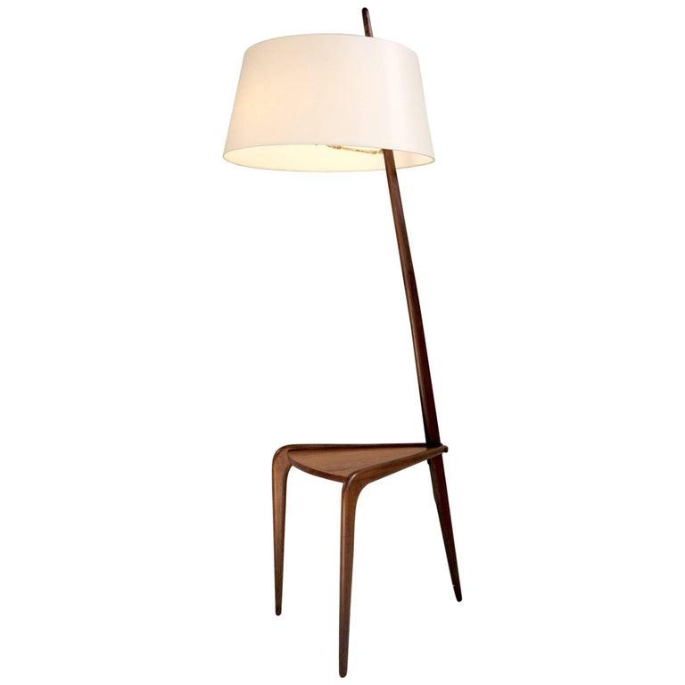 Tripod Floor Lamp by Jean Rispal, France, 1950