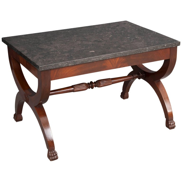 French 19th Century Mahogany Restauration Coffee Cocktail Table For Sale
