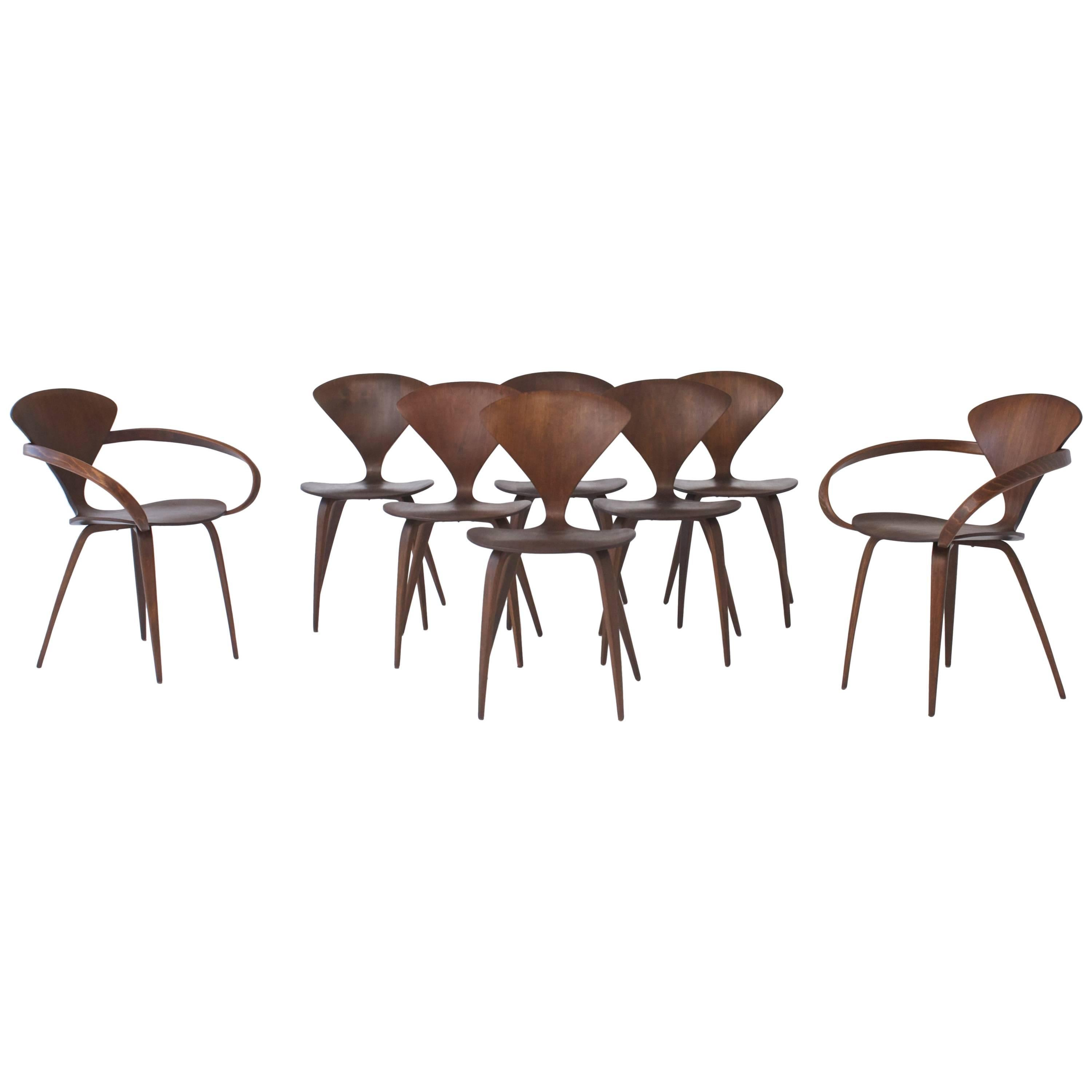 Set of Eight Norman Cherner Dining Chairs Made by Plycraft in the USA 1960s  sc 1 st  1stDibs & Set of Eight Norman Cherner Dining Chairs Made by Plycraft in the ...