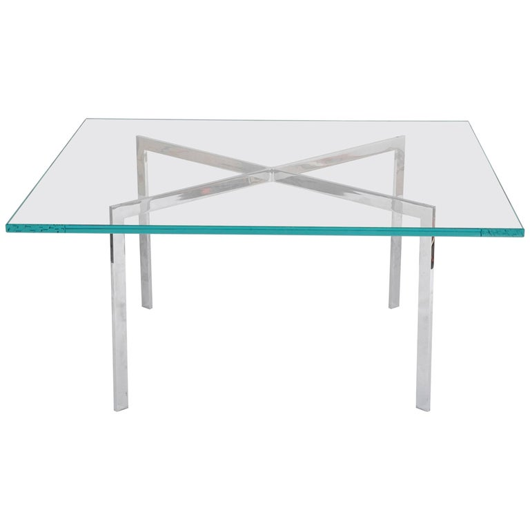 Iconic Barcelona Coffee Table by Mies van der Rohe for Knoll For Sale