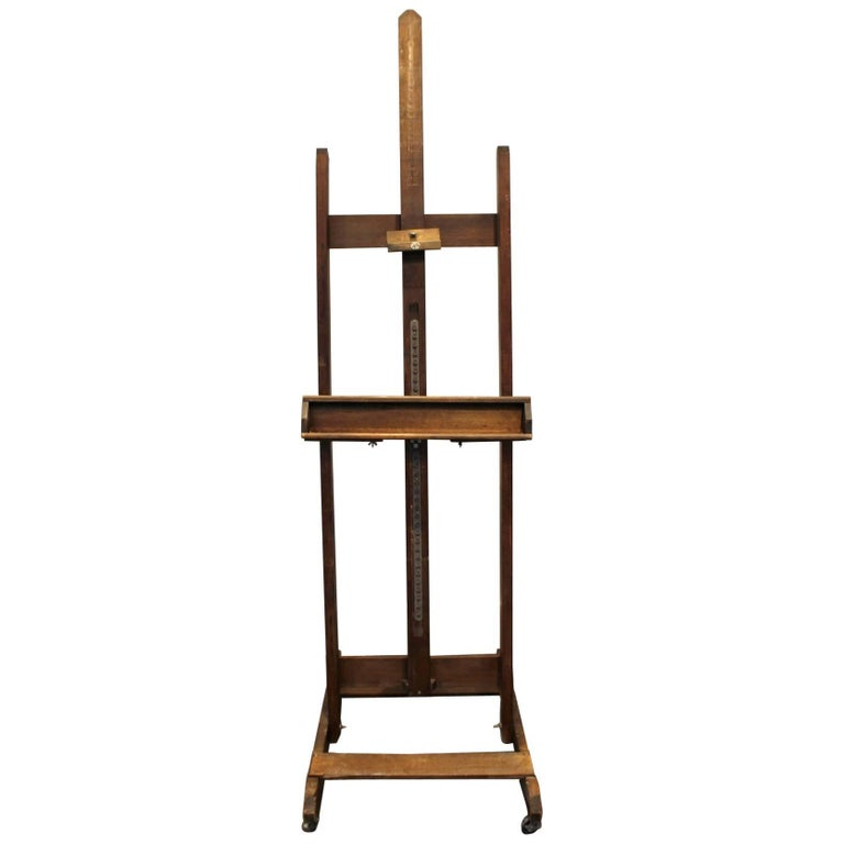 Large Vine 1950s Foldable And Adjule Artist S Easel By Anco