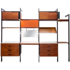 CSS Wall Unit with Vanity Mirror by George Nelson for Herman Miller