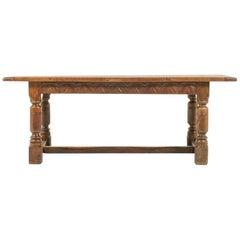 Dutch Oak Trestle Table