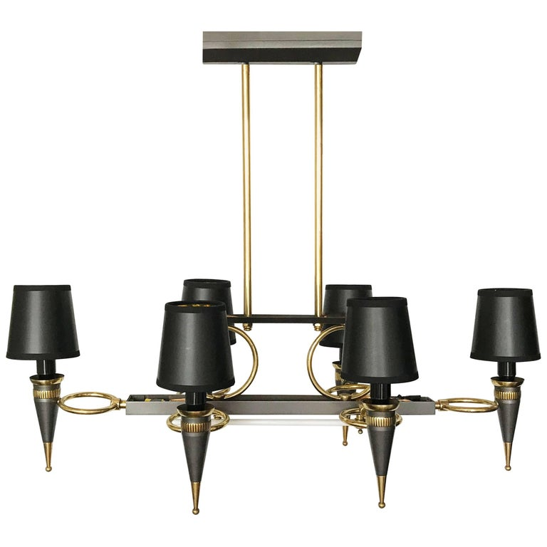 Maison Arlus Six-Light Chandelier