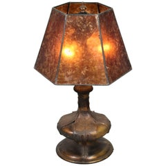 1920s Table Lamp with New Mica Shade