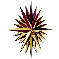 Gold and Burgundy Super Star Mirror