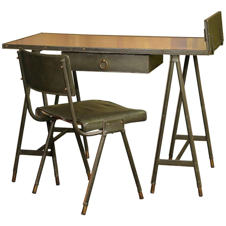 Jacques Quinet Desk and Chair France 1960-1965 For Sale