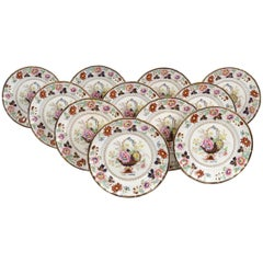 11 Antique Masons Ironstone Dinner Plates, in the Chinese Taste
