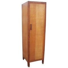 Heals and Son, a 1930s Slim Single Oak Wardrobe or Kitchen Cupboard