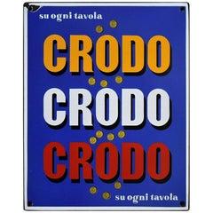 1960 Italian Enamel Crodo Publicity Sign