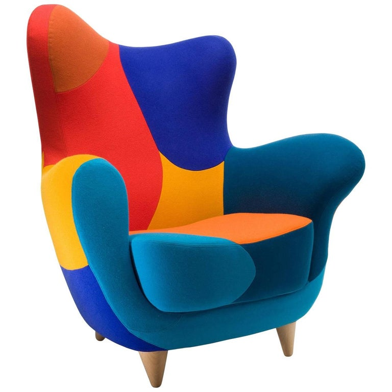 Alessandra Armchair by Javier Mariscal in Black and White or Multicolored