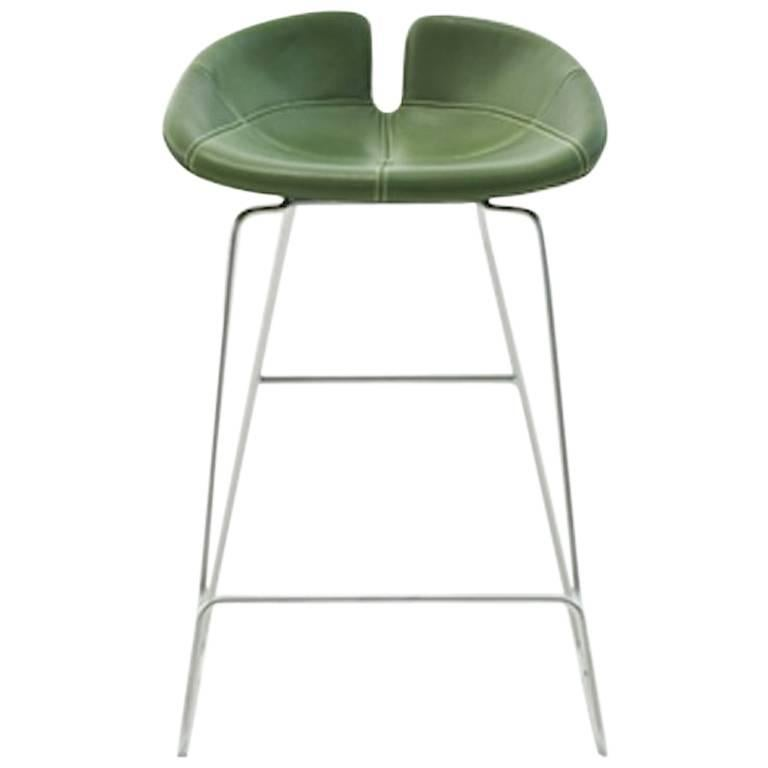 Marvelous Fjord Counter Stool By Patricia Urquiola For Moroso With Fabric Or Leather Seat Creativecarmelina Interior Chair Design Creativecarmelinacom