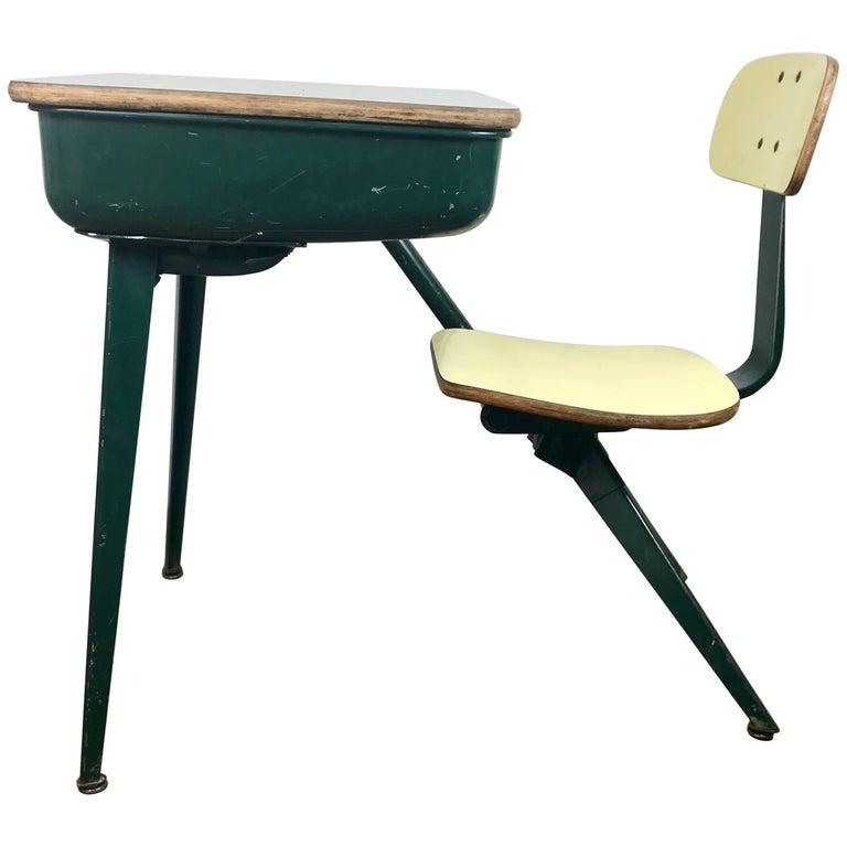 Mid Century Modern Child Student Desk Manner Of Jean Prove