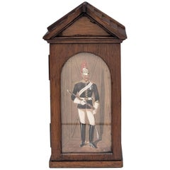 Miniature Oak Royal Horse Guard Sentry Cigar/Cigarette Box