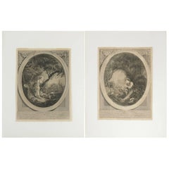 Pair of Steel Engraving from the 19th Century