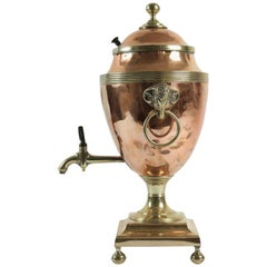 English Water Warmer and Dispenser in Copper and Brass