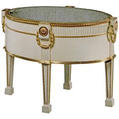 George III White Painted Wine Cooler