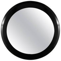DIA Black Lacquered Mirror, 1970s