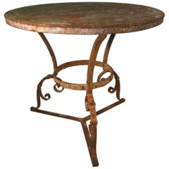 Late 19th Century Hand-Wrought Iron Garden Table