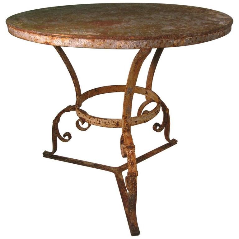 Late 19th Century Hand-Wrought Iron Garden Table