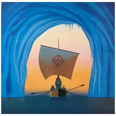Saint Brendan and the Iceberg, Original Painting by Lynn Curlee