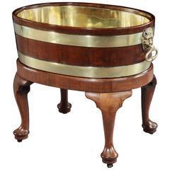 George II Brass Bound Mahogany Wine Cooler