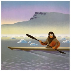 Inuit Hunter, Original Painting by Lynn Curlee