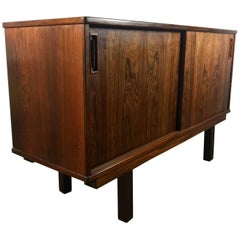 Stunning Bookmatch Rosewood Credenza, Cabinet by Drylund Denmark