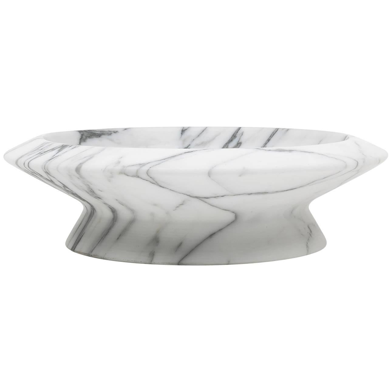 Centrepiece in White Arabescato Marble by Ivan Colominas, Italy