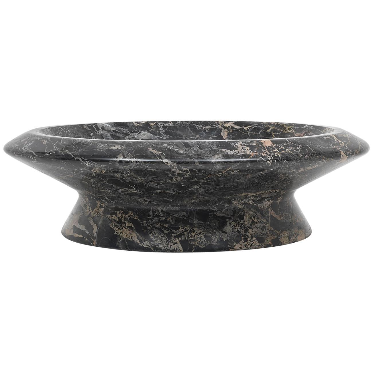 Centrepiece in Black Portoro Marble by Ivan Colominas, Italy