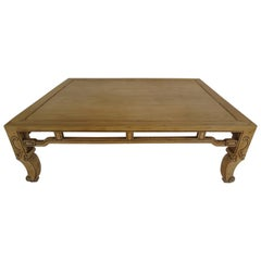 Baker Ming Style Coffee Table in Natural Finish