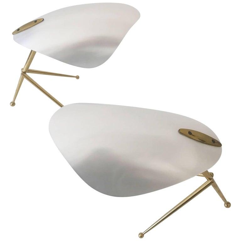Two Sputnik Table Lamps by Kaiser Leuchten, 1950, Germany