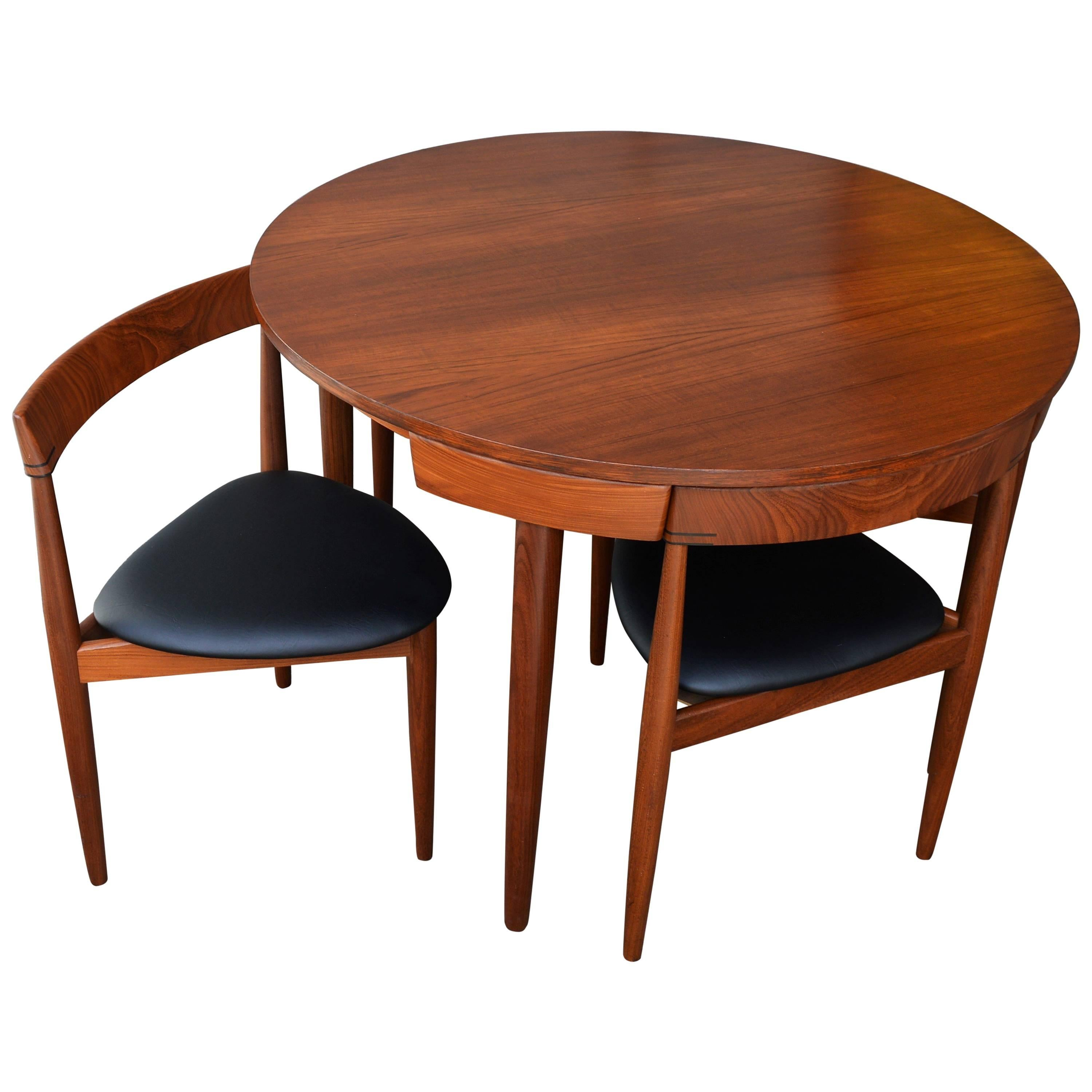 Nice Compact Hans Olsen Teak Dining Set With Four Dining Chairs For Frem Rojle