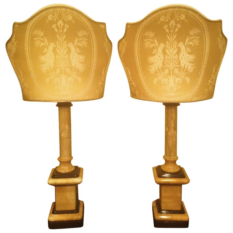 Contemporary Italian Marble Lamps