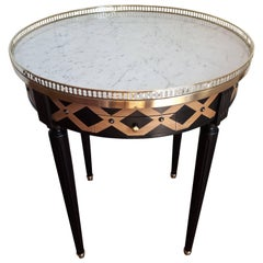 Bouillotte Louis XVI Style Table Marble Top
