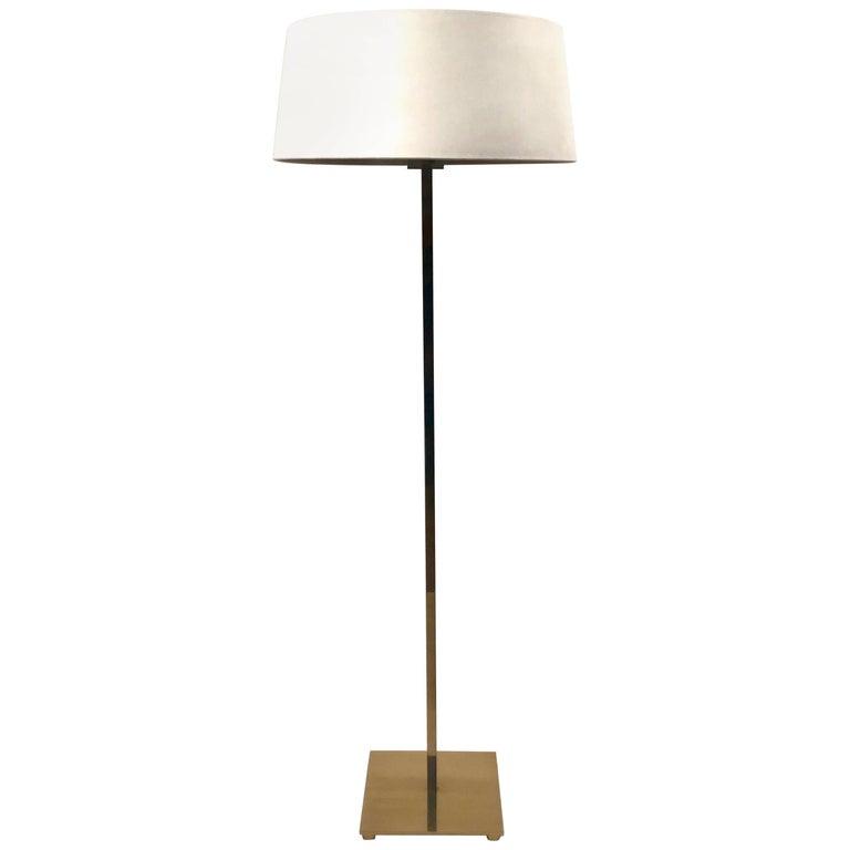 Excellent Double Bulb Brass Floor Lamp by Stewart Ross James for Hansen