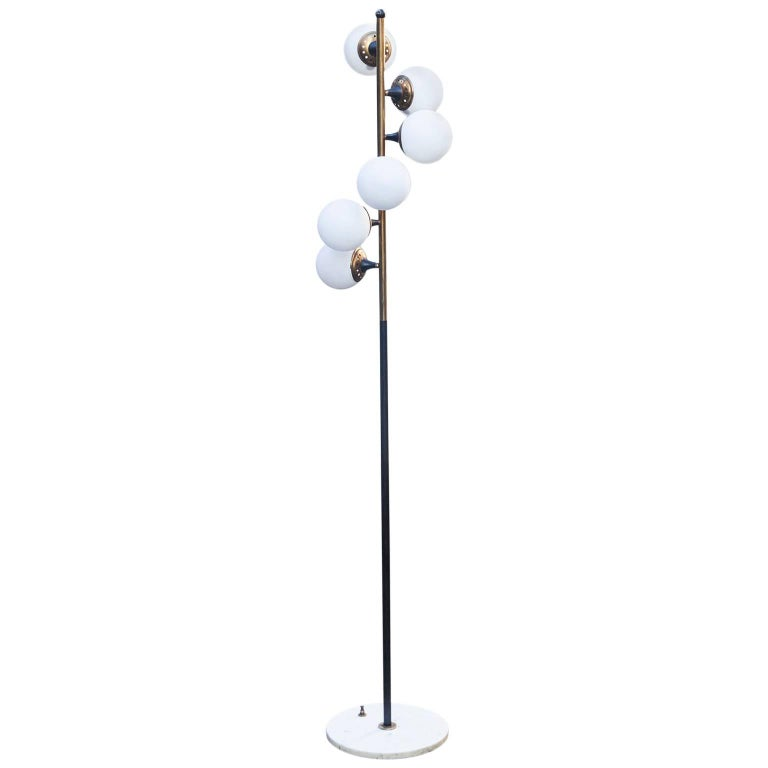 Vintage Stilnovo Floor Lamp Marble Base