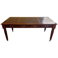Colonial Leather Top Writing Desk