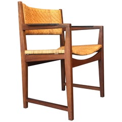 Peter Hvidt and Orla Mølgaard-Nielsen Teak and Cane Accent Chair, Denmark
