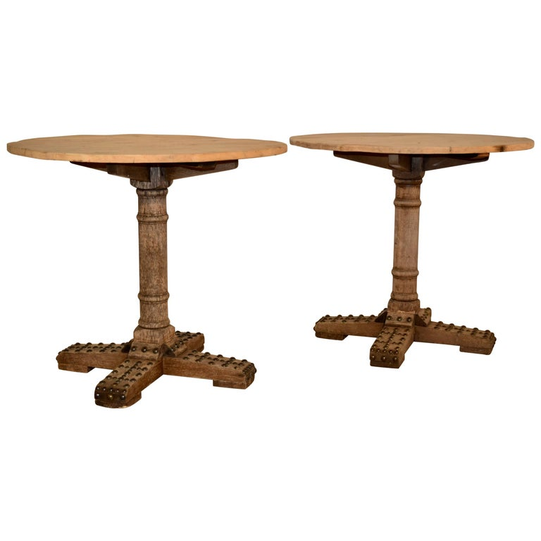 Late 19th Century Pair of French Cafe Tables
