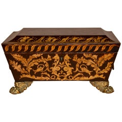 Early 19th Century Leather Dresser Box