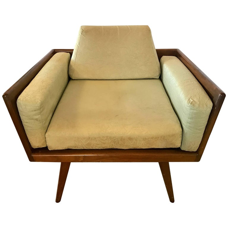 Mel Smilow for Smilow Thielle Signed Walnut Lounge Chair, 1950s