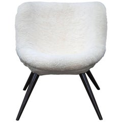 Fritz Neth Sheepskin Fur Lounge Chair