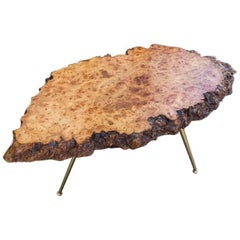 Carl Auböck Nakachima Style Burl Wood Tripod Side Table