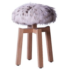Contemporary French Chalet Affair Fur Stools