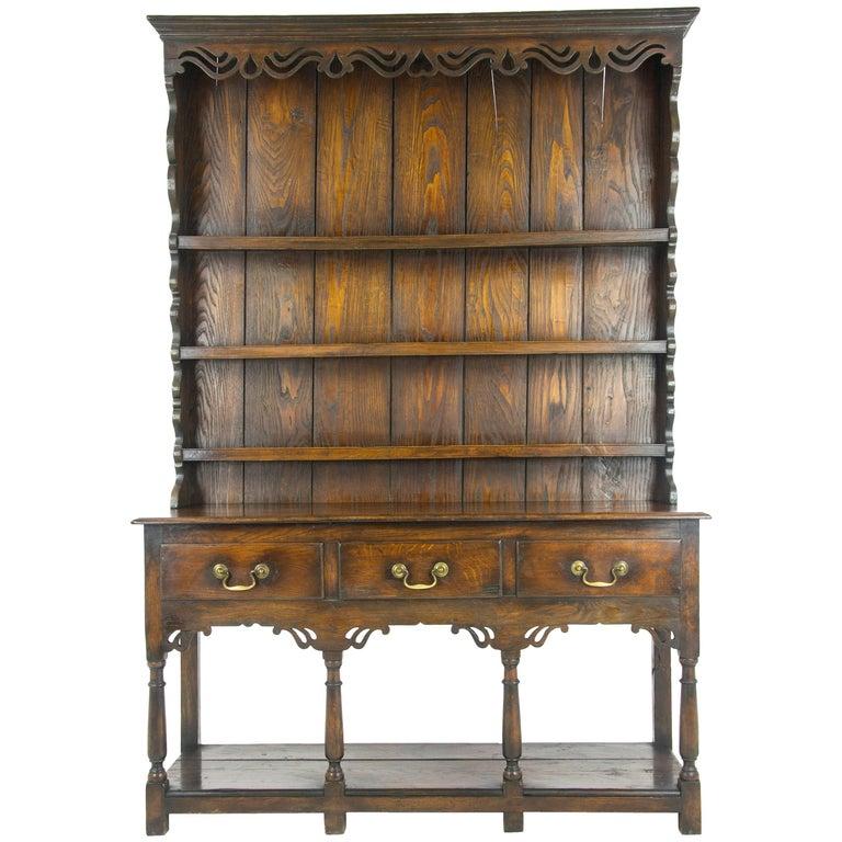 Dark Wood Welsh Dresser: Antique Oak Welsh Dressers For Sale