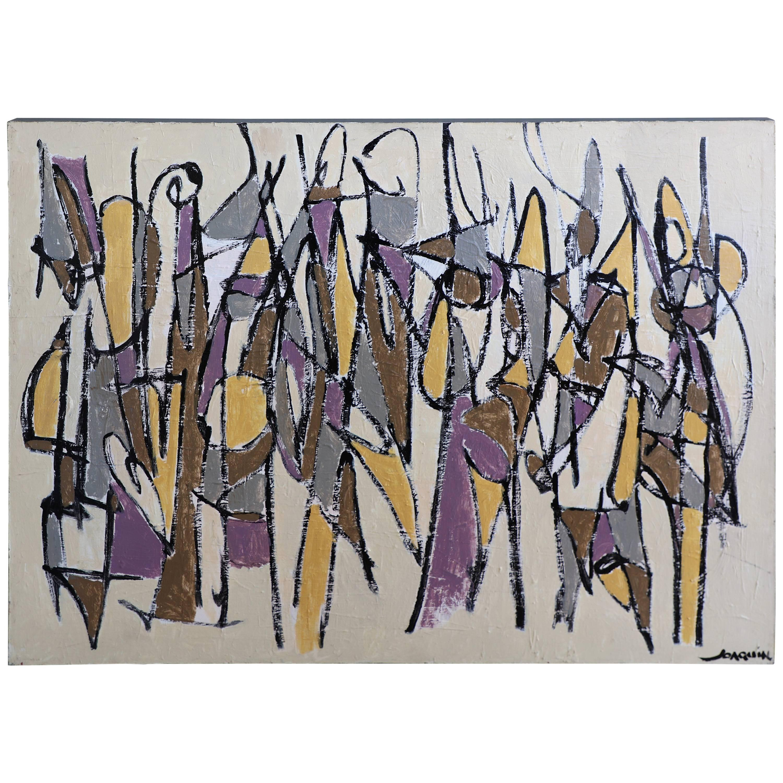 "Kenneth Joaquin Acrylic on Canvas Titled ""Zulu"""